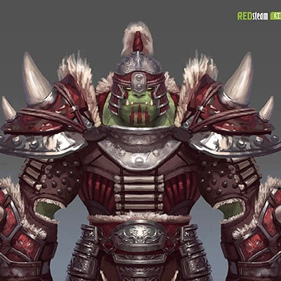 Devin platts redsteam ca chara orc warriorarmour