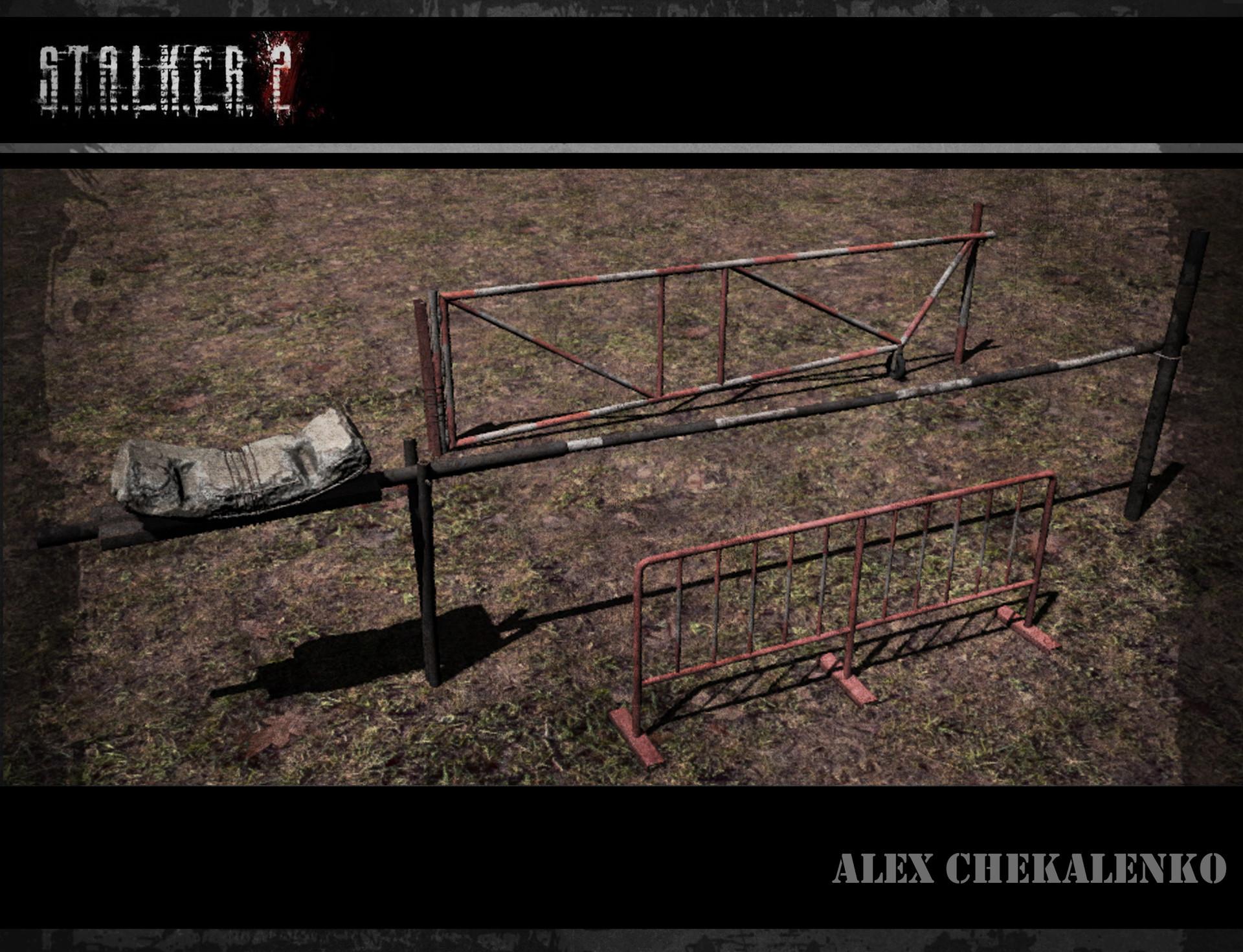 Alex chekalenko metal fence set