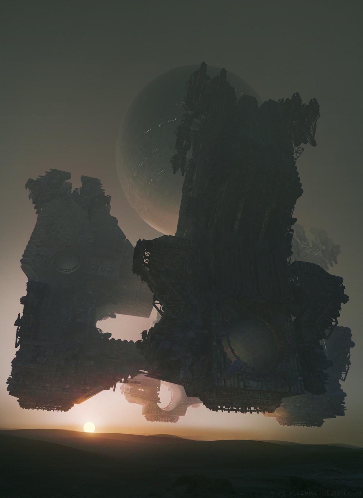 look at the sun on Mars base 017