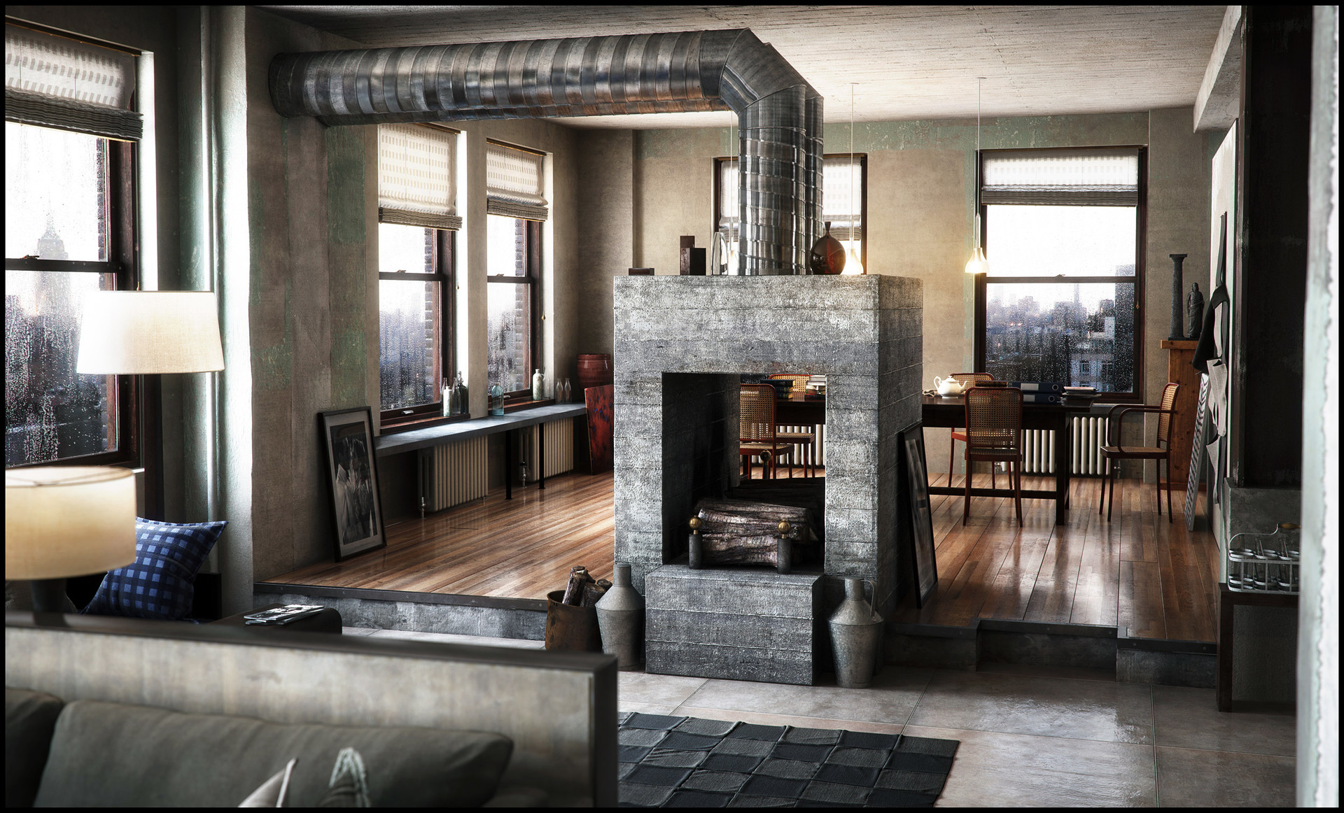 artstation - new york apartment, dennis iversholt