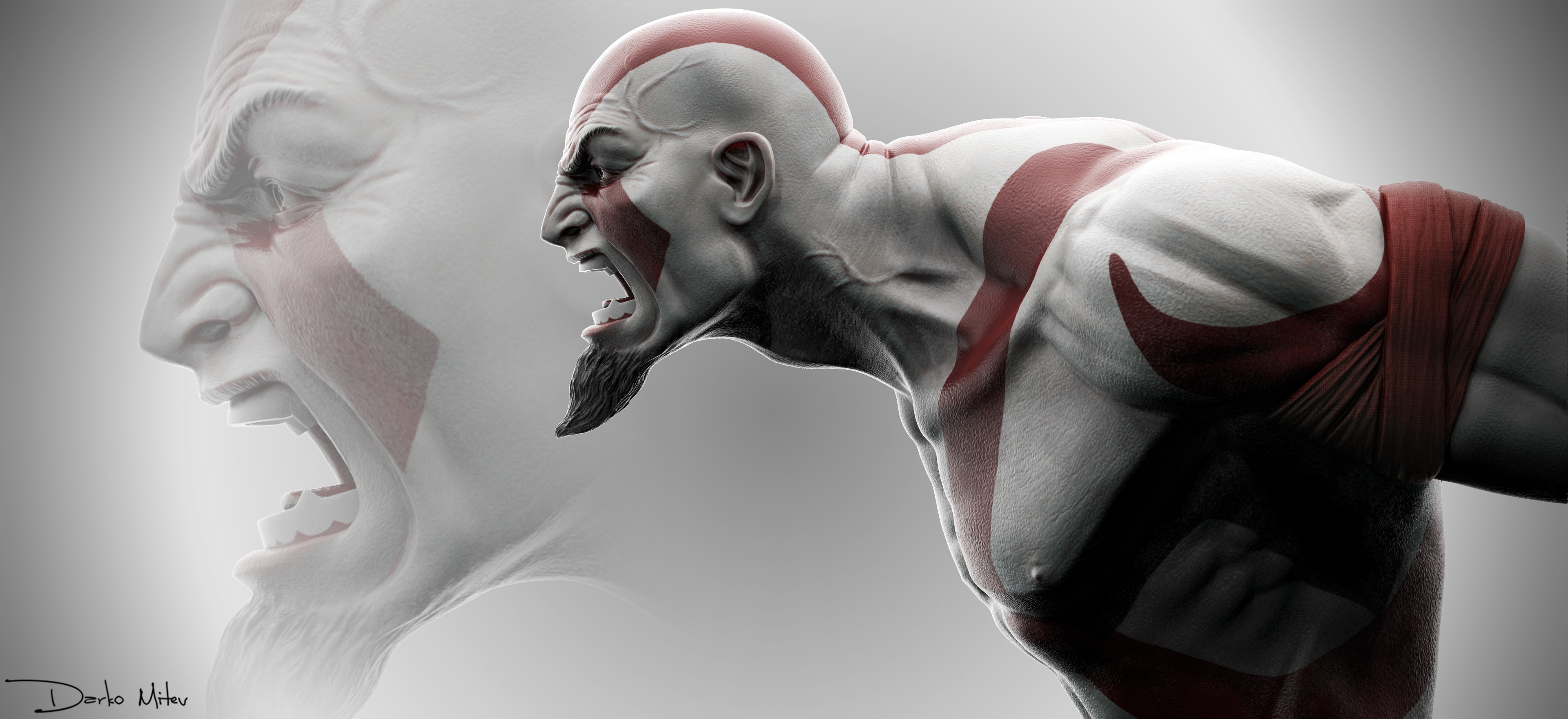 Kratos God of War Fan Art