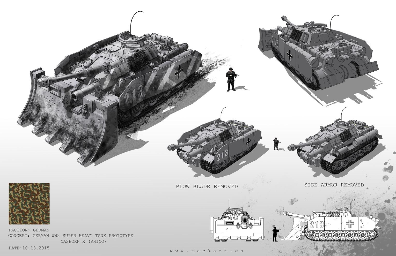 German Tank Prototype : Nashorn X (Rhino)