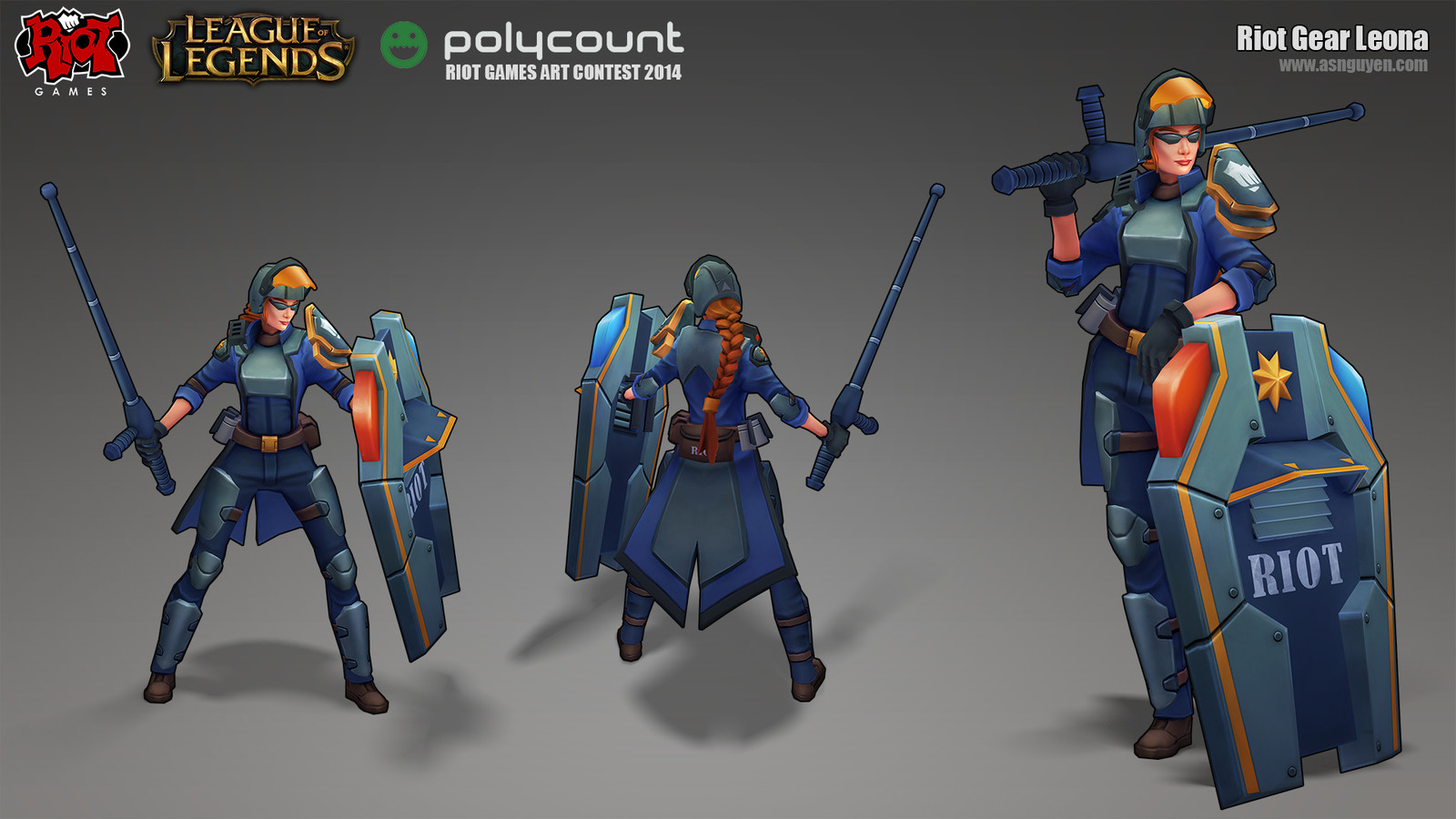 Riot Gear Leona - Polycount Contest 2014