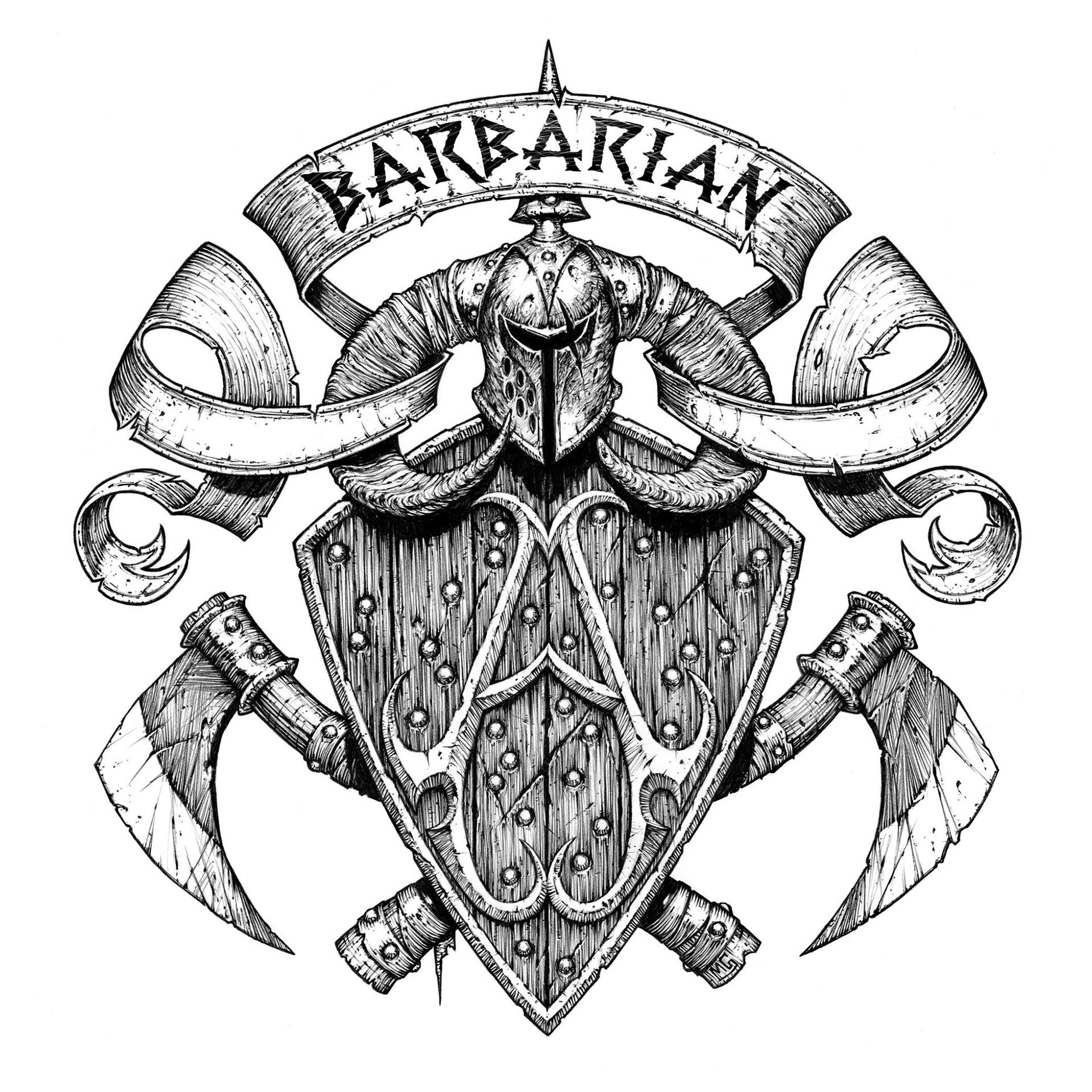 Seth Thompson Viking Coat Of Arms Concept
