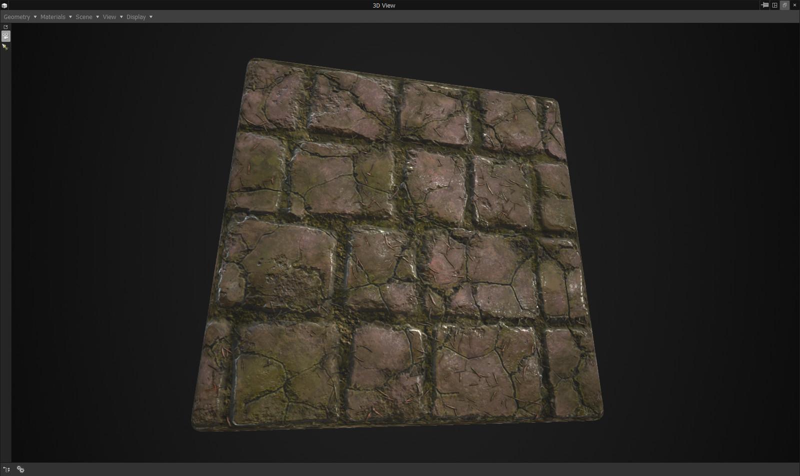 Substance Designer - 100% procedural stone tiles
