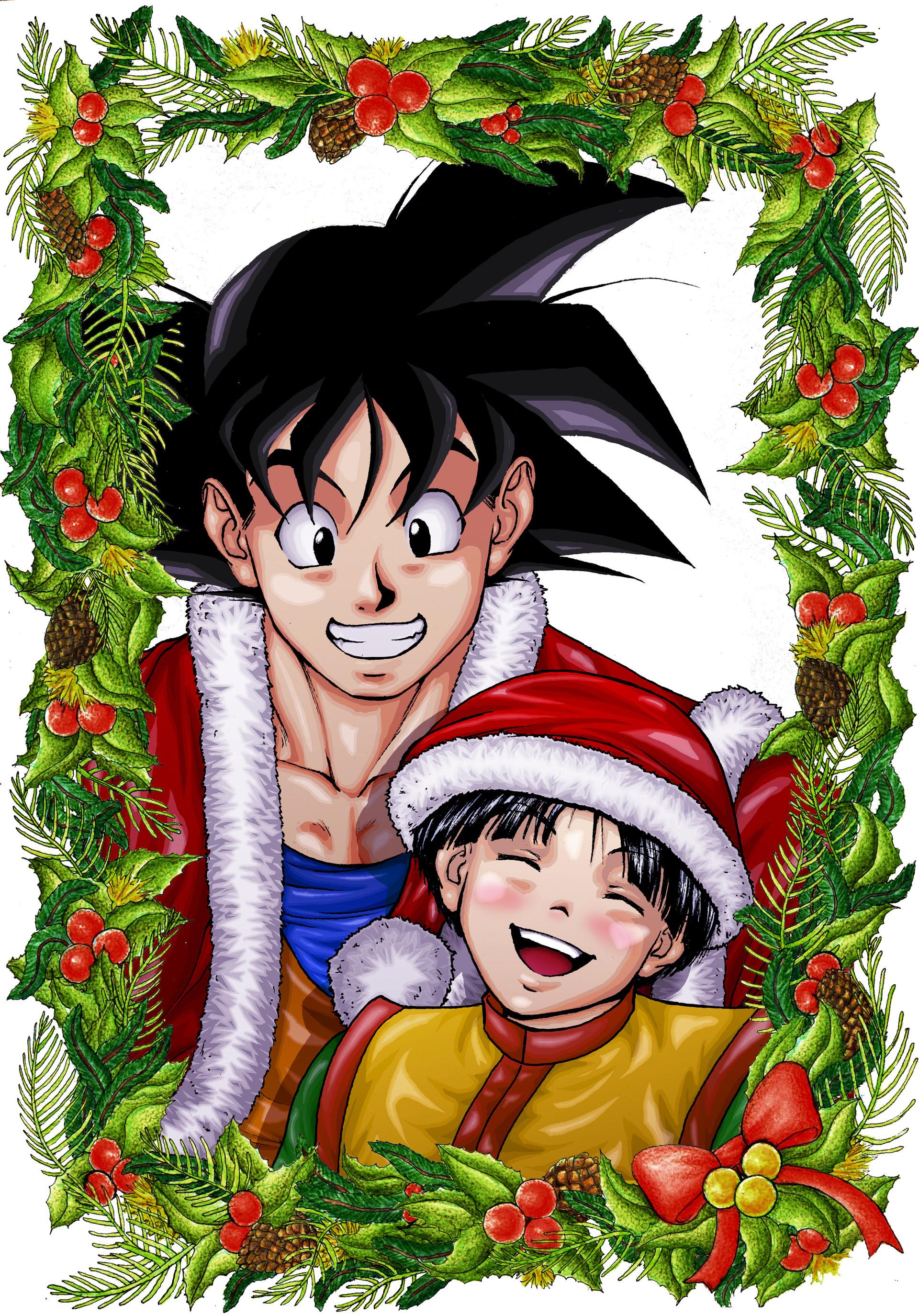 Gustavo melo cartao de natal goku e gohan