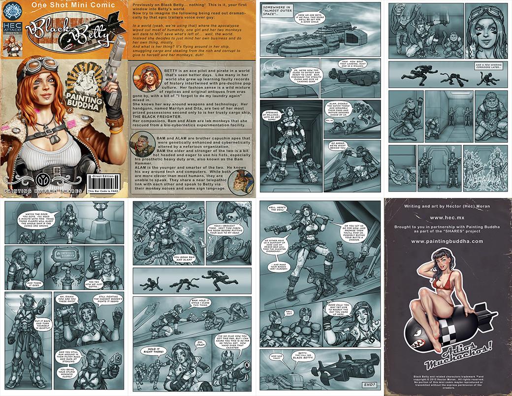 Preview of Black Betty mini comic, full pdf here:  https://dl.dropboxusercontent.com/u/8207549/BettyComic.pdf
