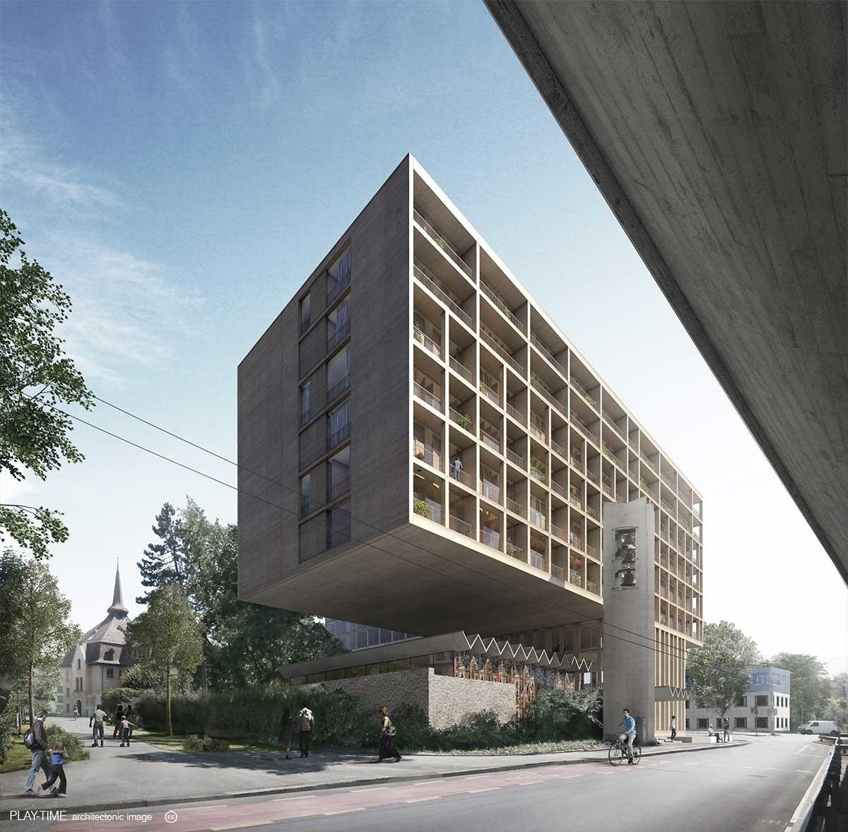 Play time architectonic image gmaa chatelaine housing switzerland 02