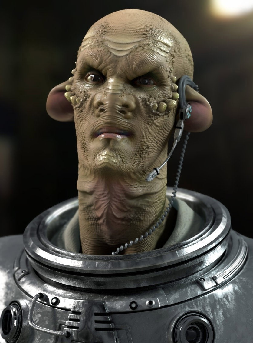 Creature Portrait (Modo 301 Beta Testing Work, 2007)