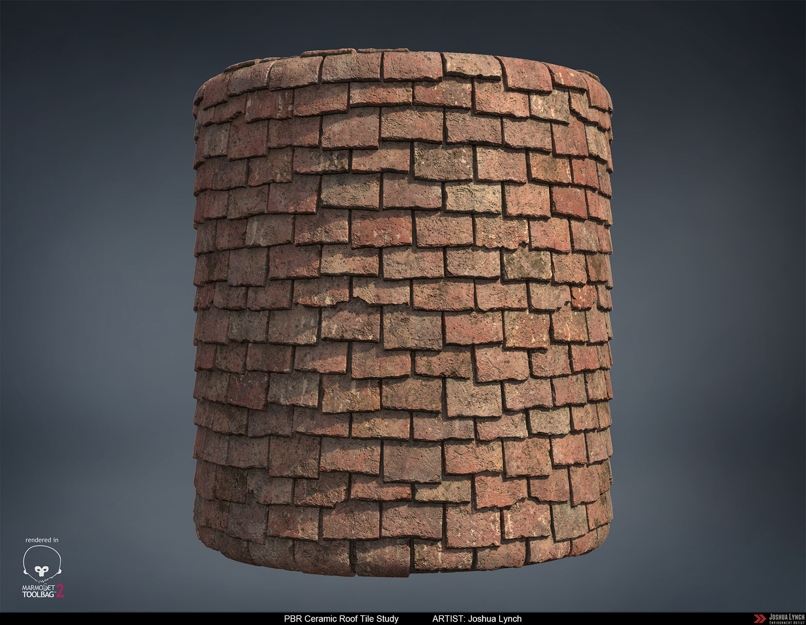 Joshua lynch pbr procedural ceramic roof tiles material study joshua lynch roofing tiles 01 cylinder rev 02 layout comp josh lynch dailygadgetfo Image collections