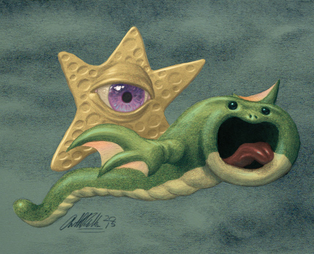 Anthony rosbottom eye star fish flying wurme