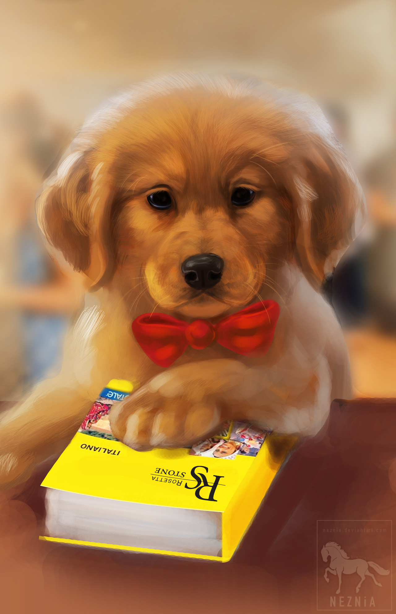 Ashleigh Kasper Golden Retriever Puppy Illustration