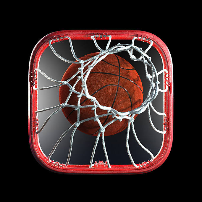 Tomislav zvonaric basketball rim 3d icon isolated