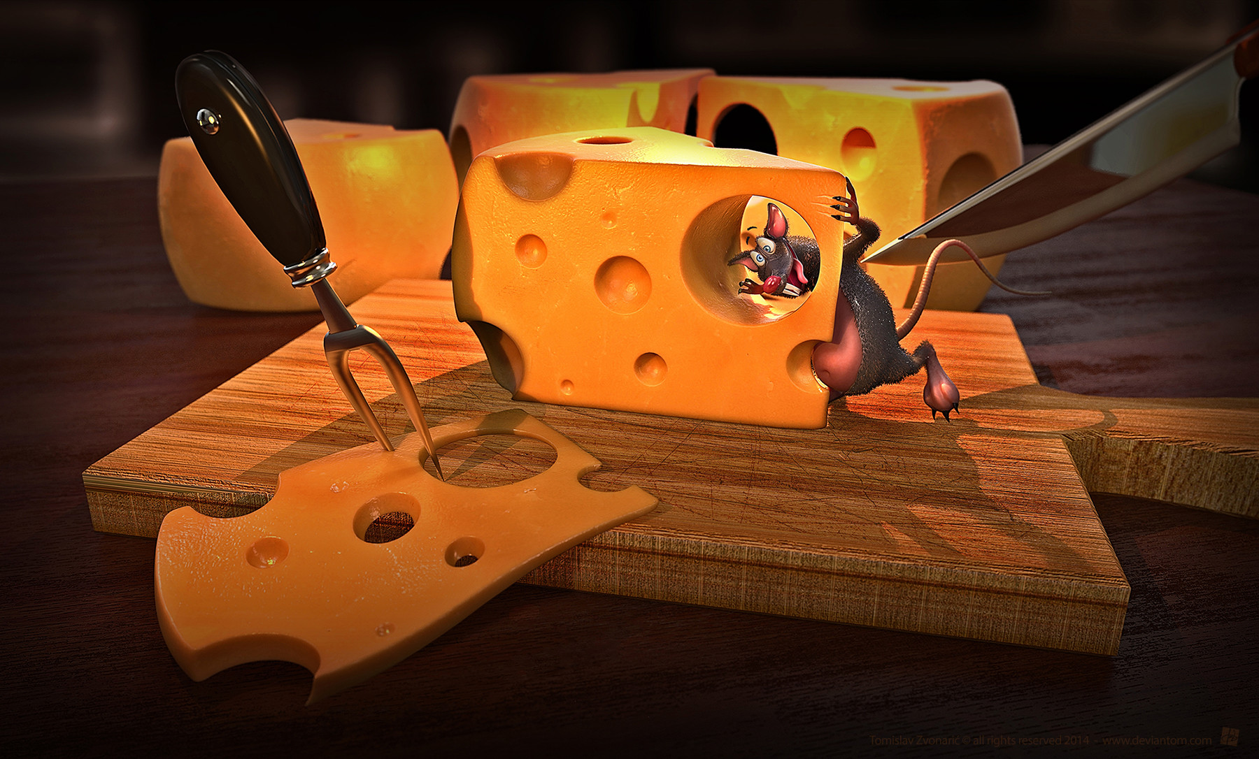 Tomislav zvonaric cheese scene with funny mouse