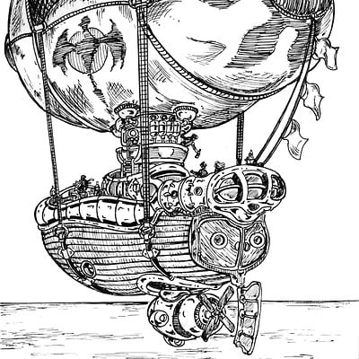 Airship 04-Inktober #24