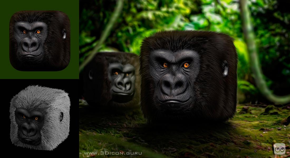 Tomislav zvonaric gorilla 3d ios icon