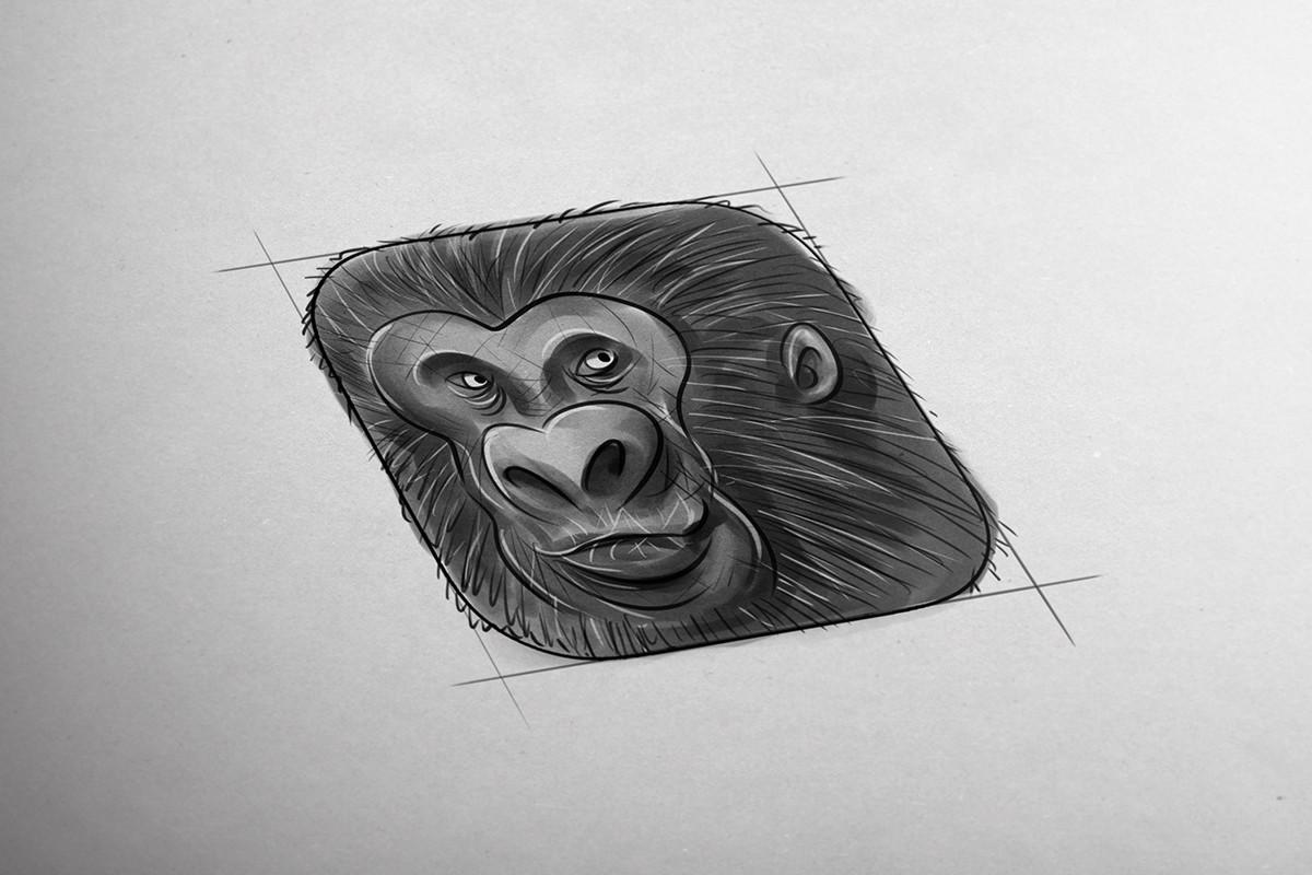Tomislav zvonaric gorilla icon sketch