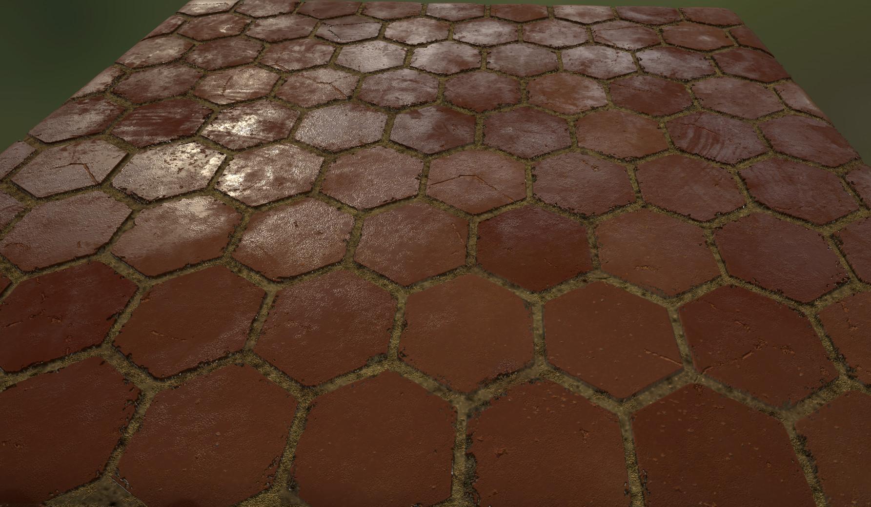 artstation wip spanish floor substance designer nate sartain