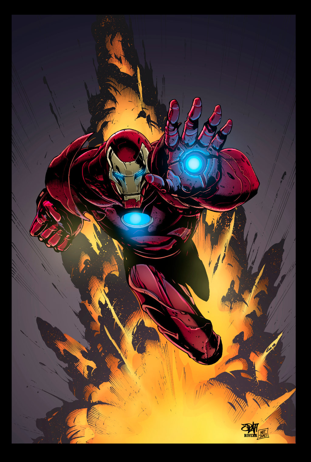 Matt james iron man by mattjamescomicarts d9f3y2q