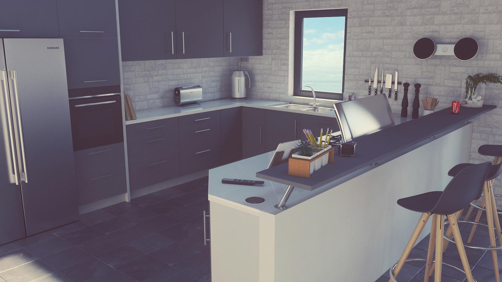 Artstation Modern Kitchen Design Danny Blicher