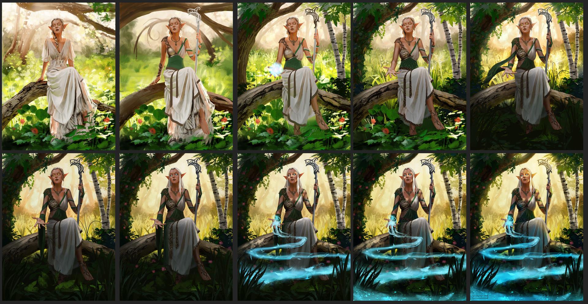 Hugh pindur pindurski elf priestess process