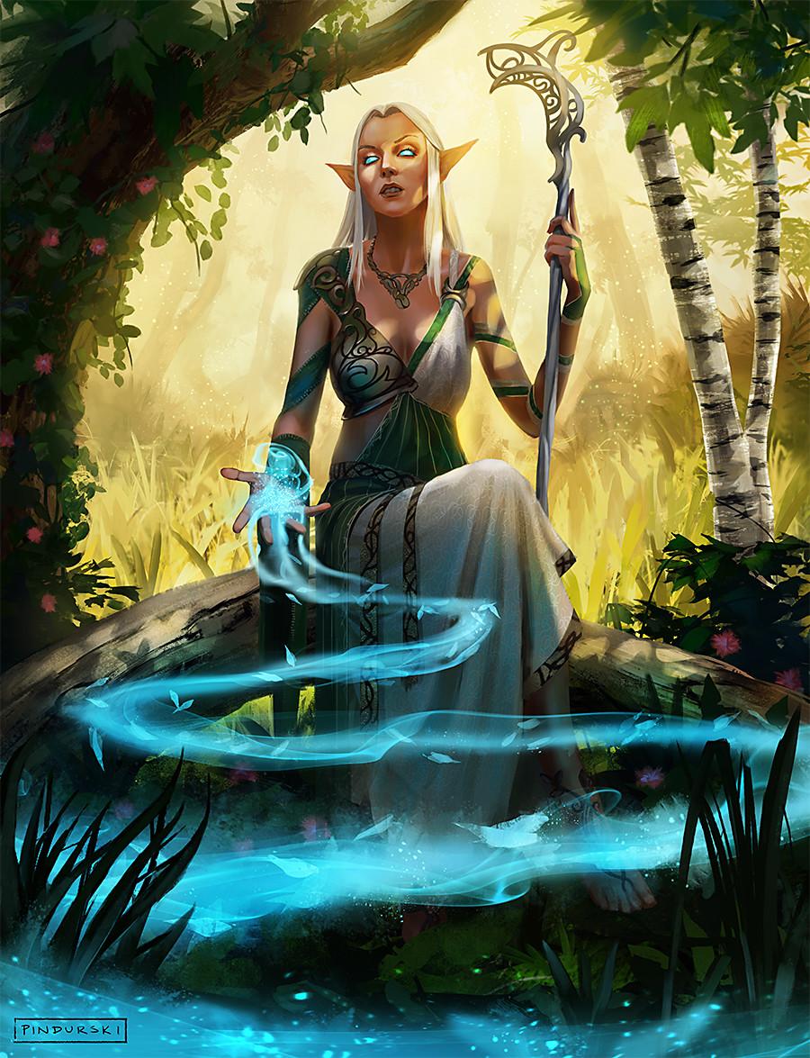 Hugh pindur pindurski elf priestess