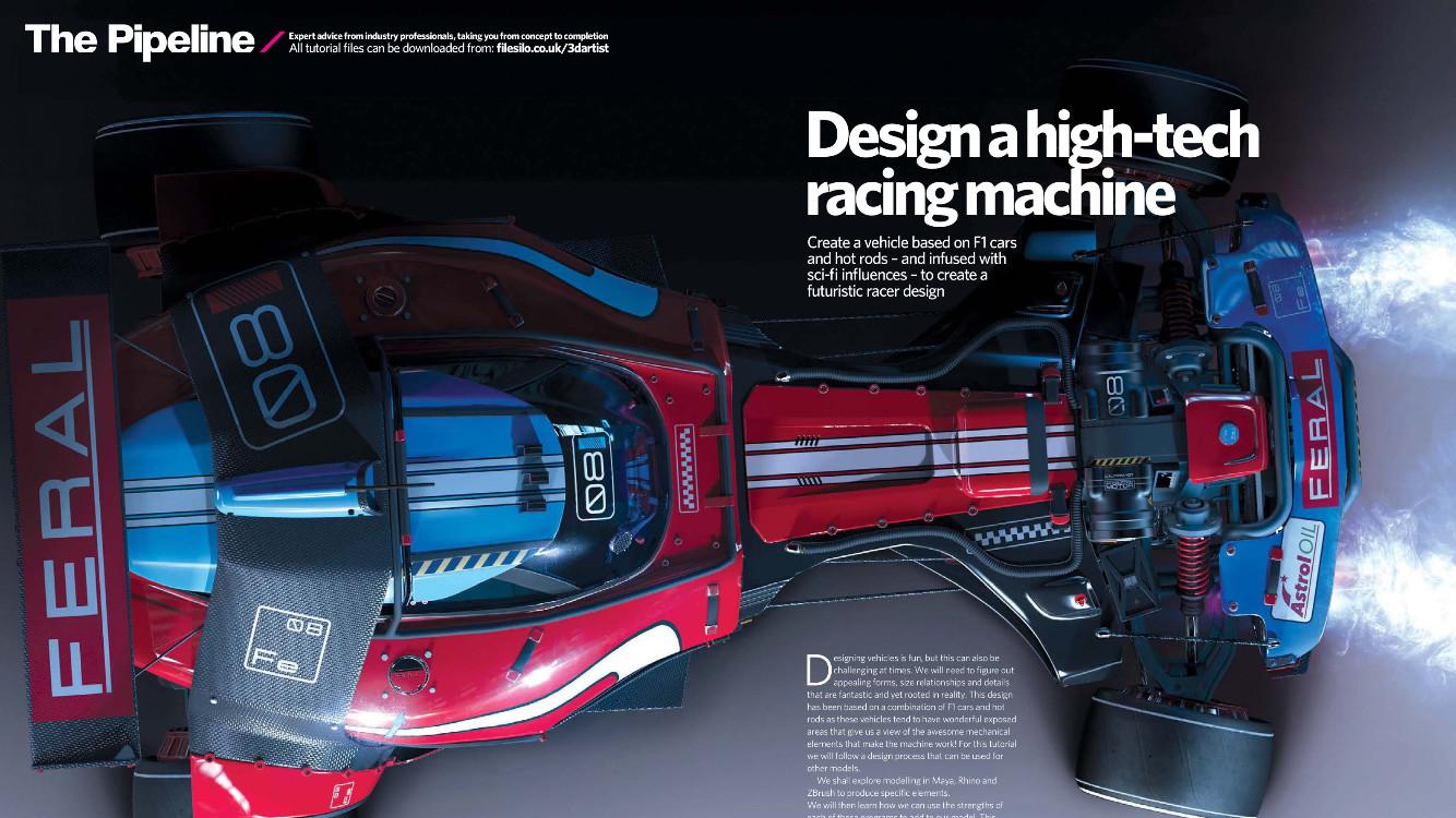 Spread in 3D Artist Magazine