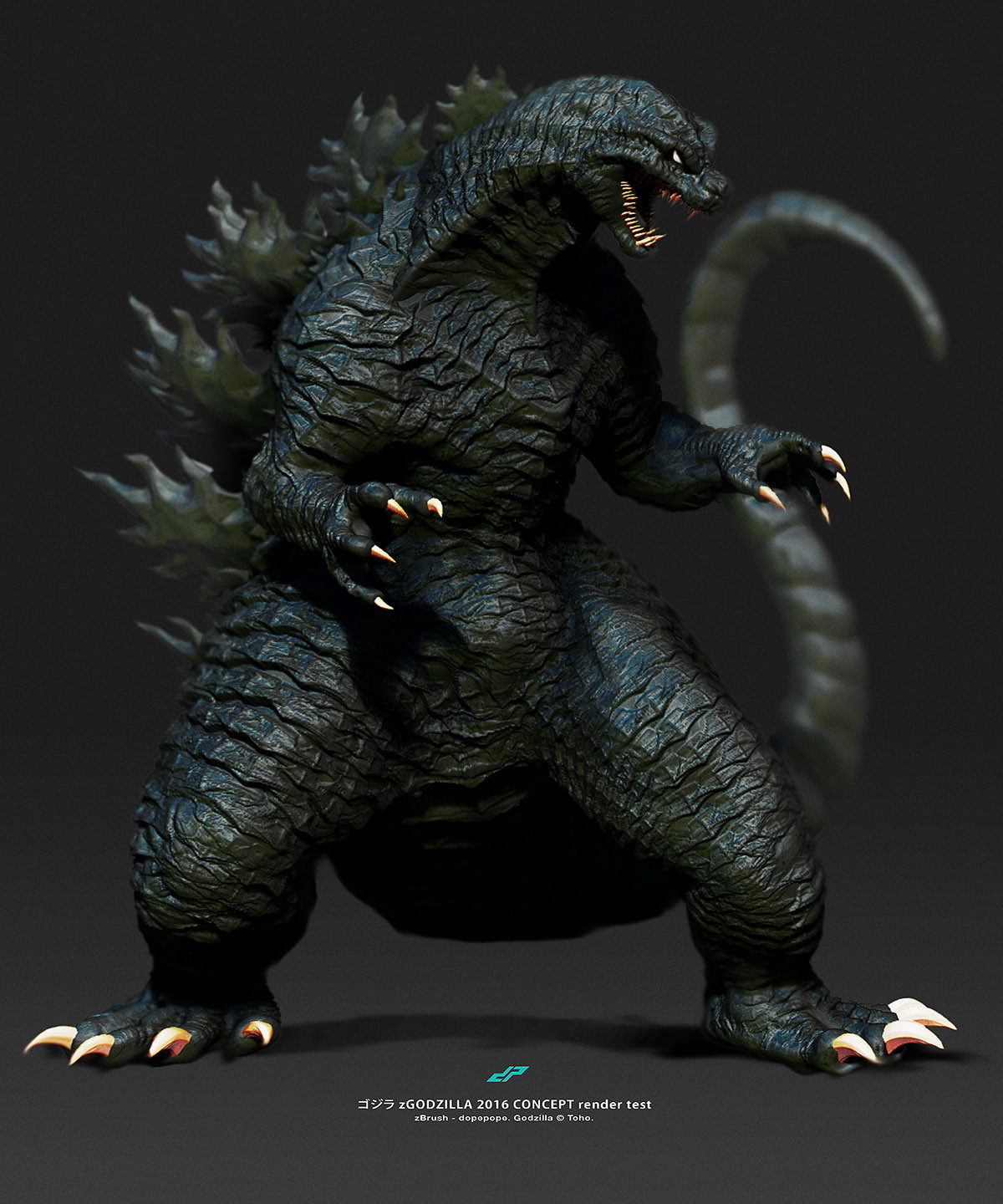 Dope pope zgodzilla2016 concept render test by dopepope