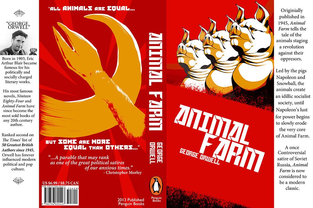 Artstation Book Cover Project Animal Farm Desiree Kaltz
