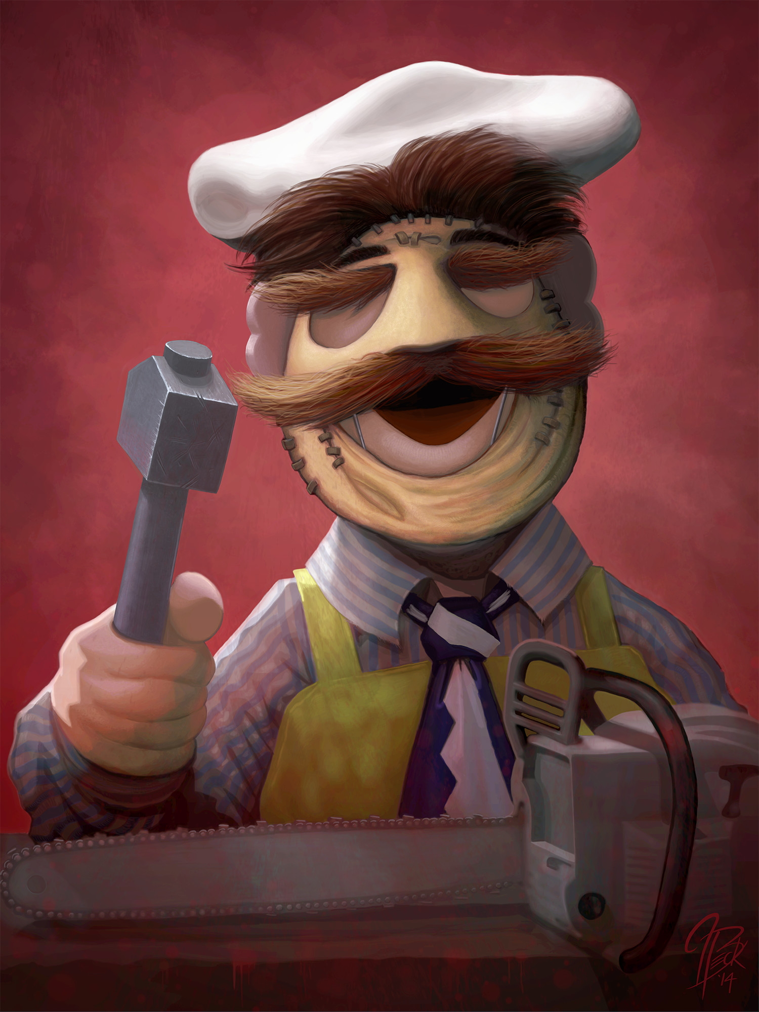 Swedish Chef as Leatherface