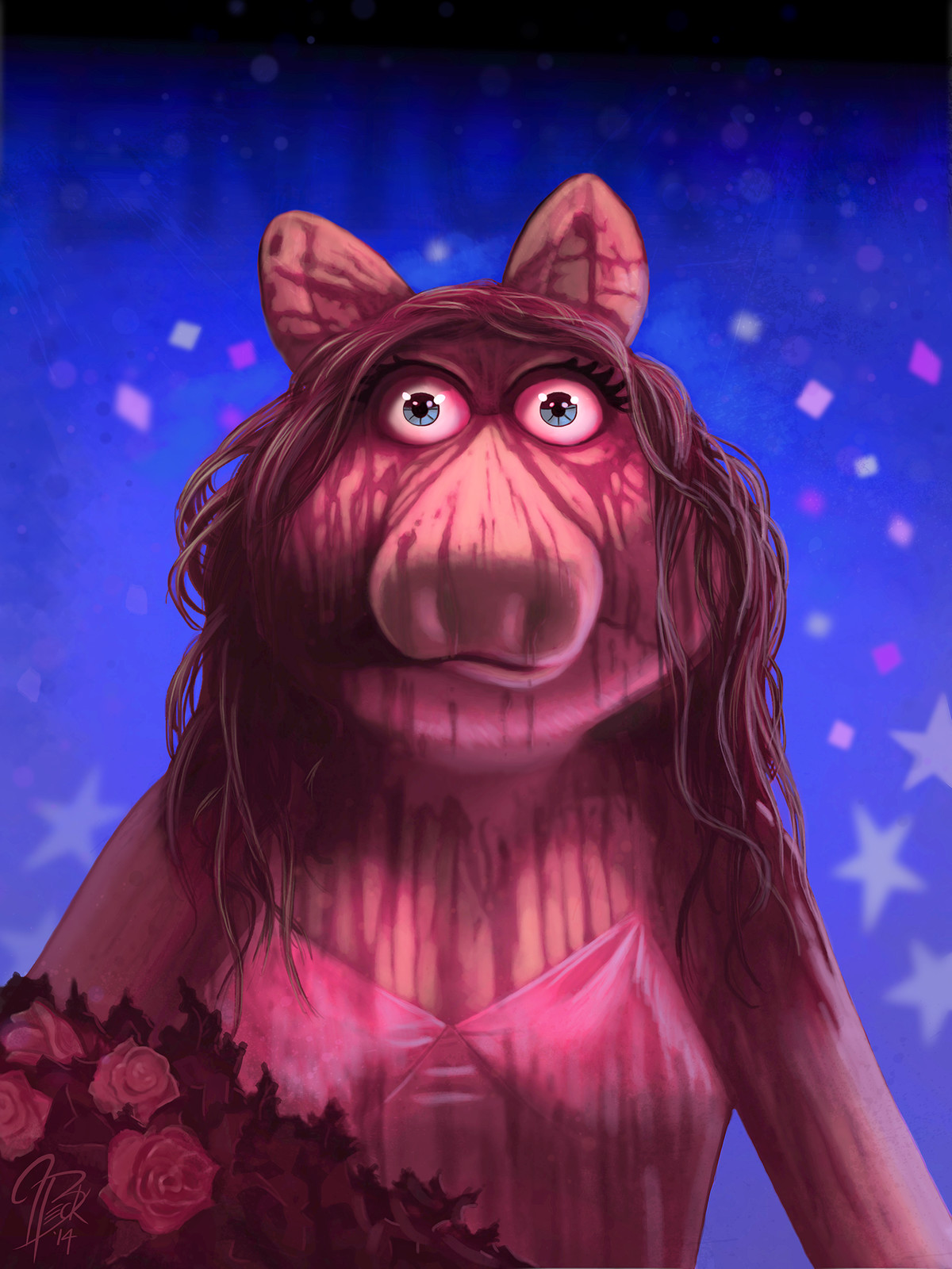 Ms. Piggy as Carrie White