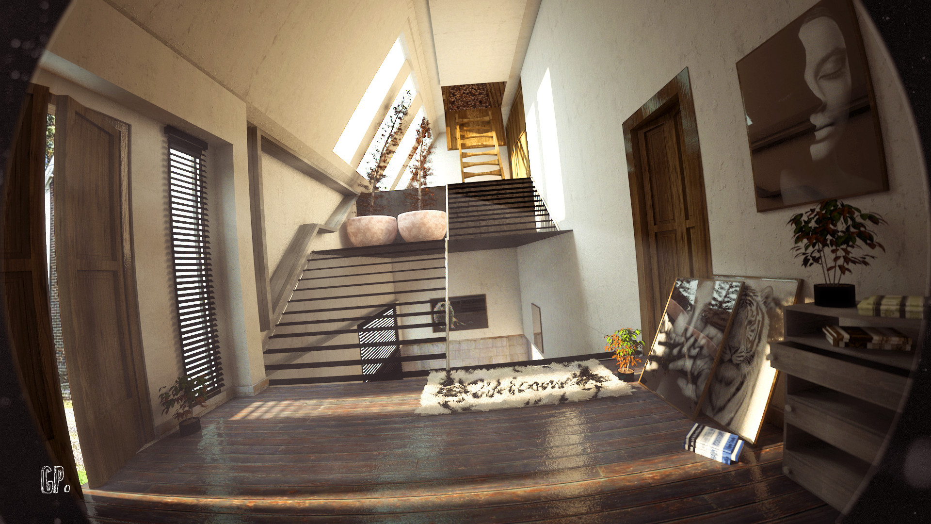 ArtStation - Title:Morning House(Interior) , Greek Pixel