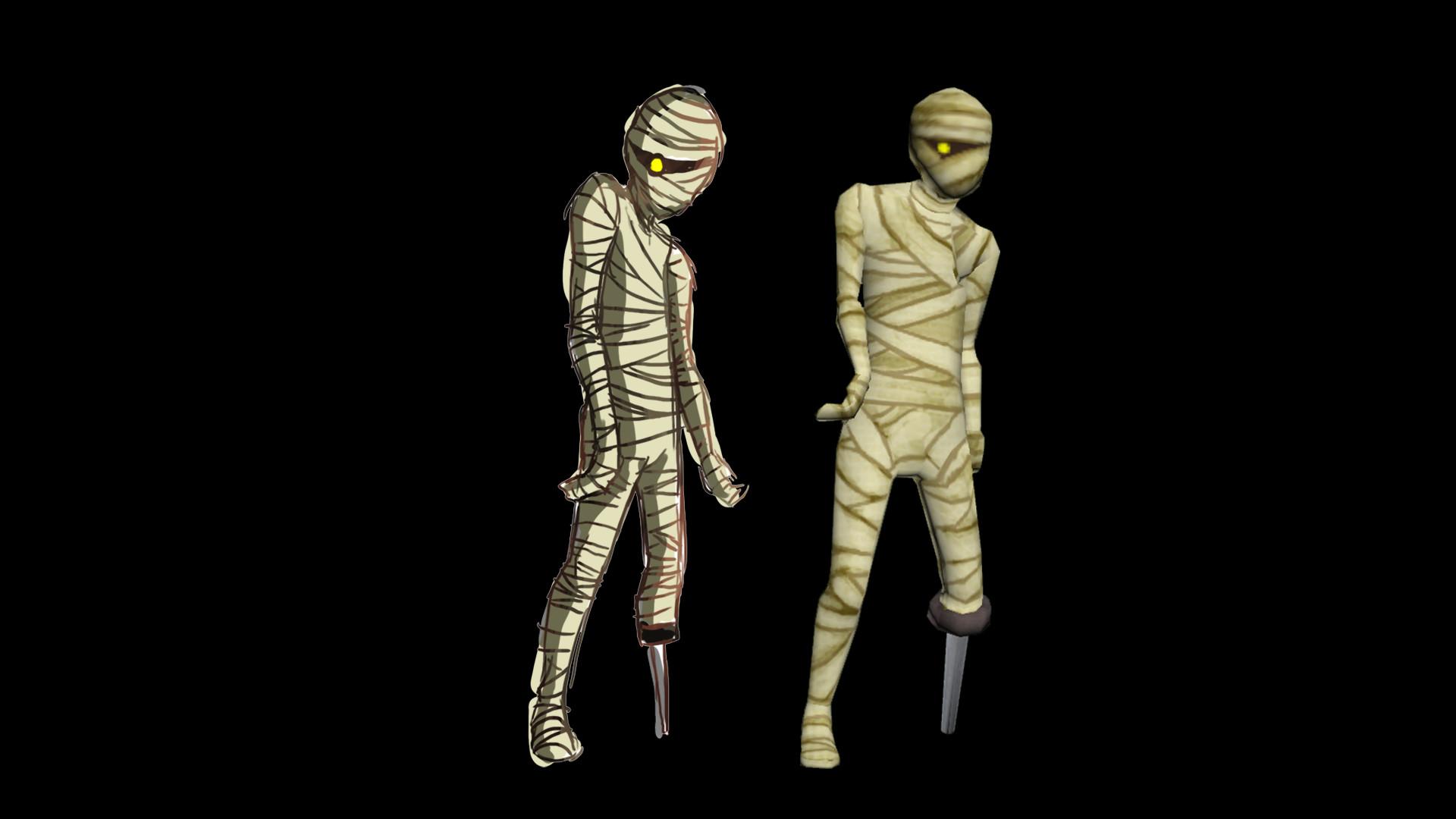 Raymond cripps mummy pose