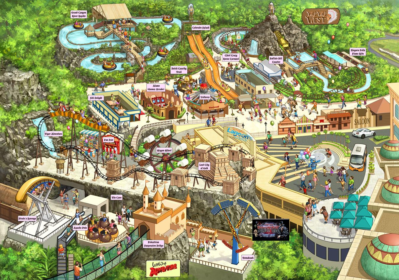 Kinsun loh sunway adventure map