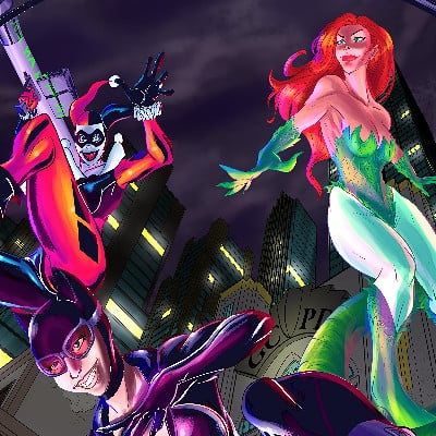 William calleja gotham city sirens web