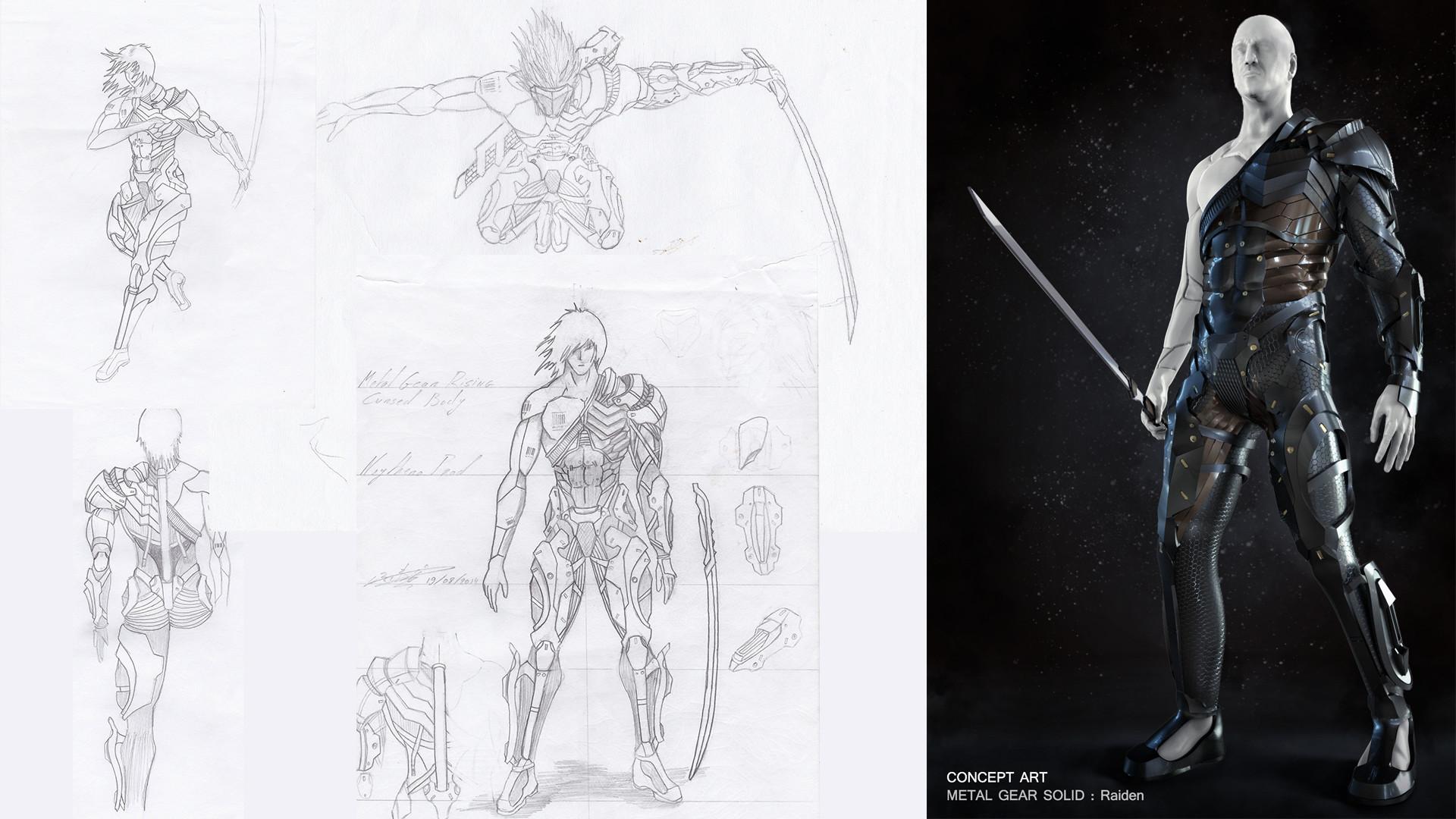 Metal Gear Raiden Concept Art