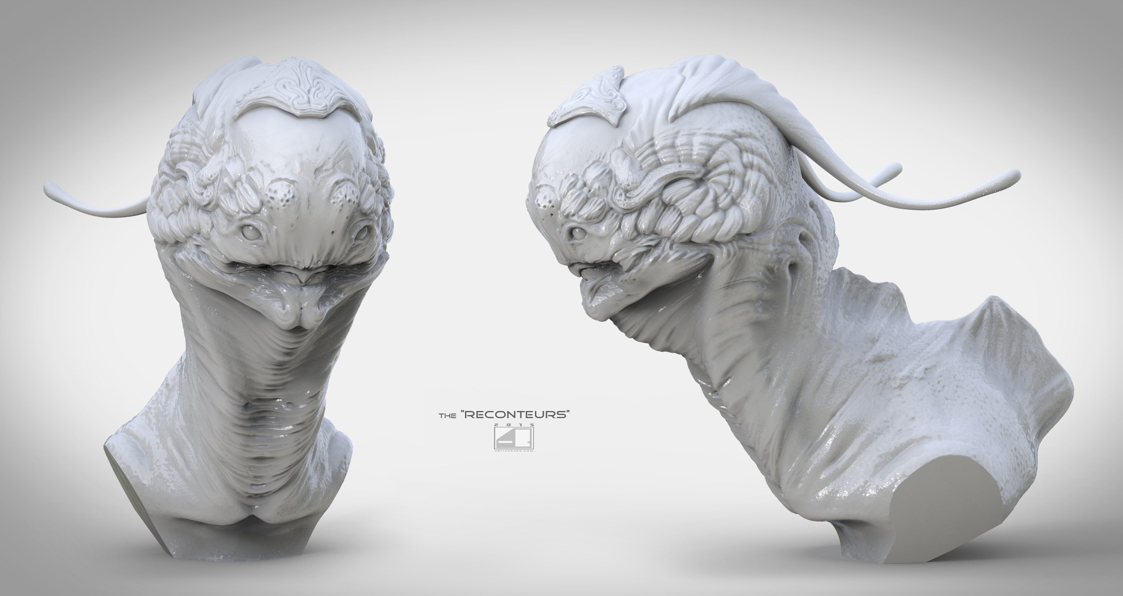 """The Reconteurs."" (Gray-scale Sculpt)"