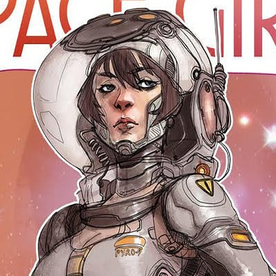 Hicham habchi space girl by pyroow d9g2bvj