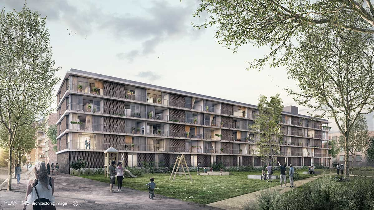 Play time architectonic image vivas arquitectos viviendas en bonpastor barcelona