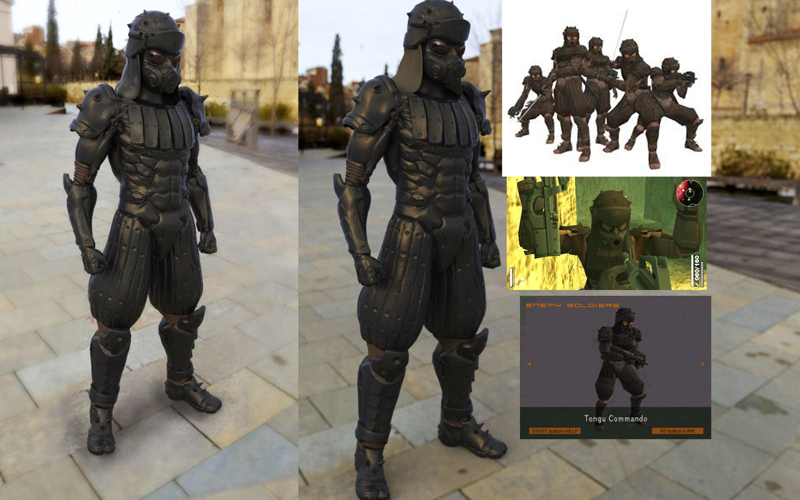Artstation Metal Gear Solid 2 Tengu Yasu Sato