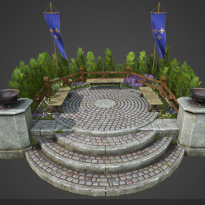 Medieval Pedestal