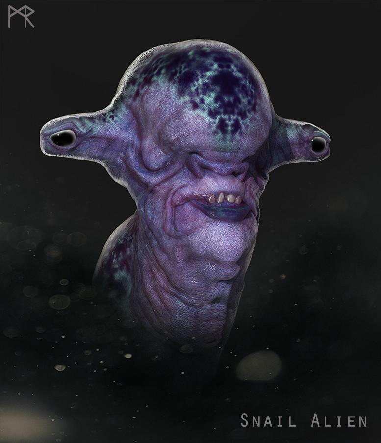 Mathieu roszak snail alien web