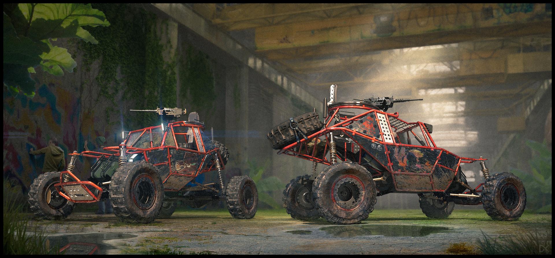 Darius kalinauskas buggy jungle abandoned concept art environment 4k