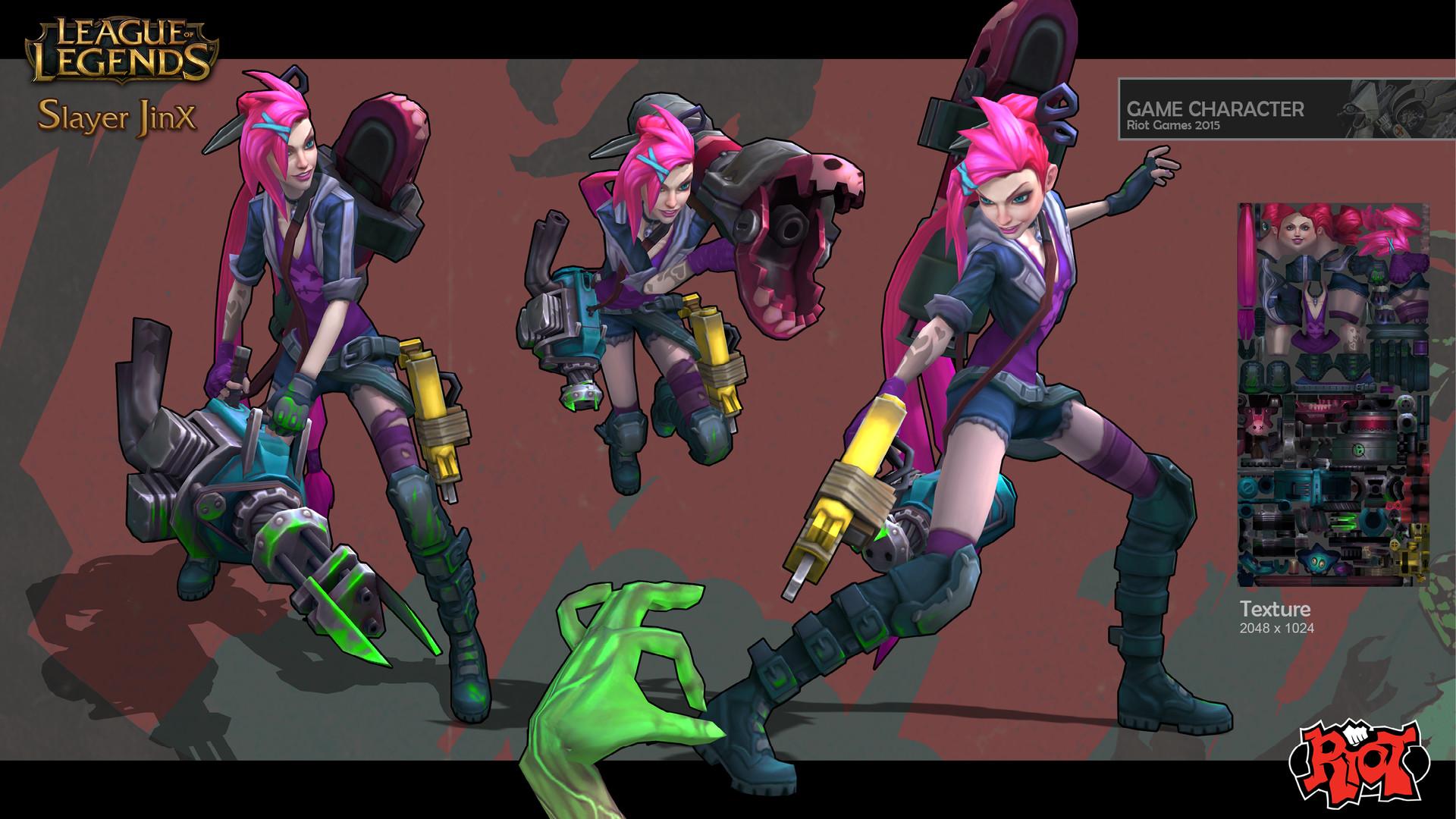 ArtStation - Slayer Jinx, Duy Khanh Nguyen