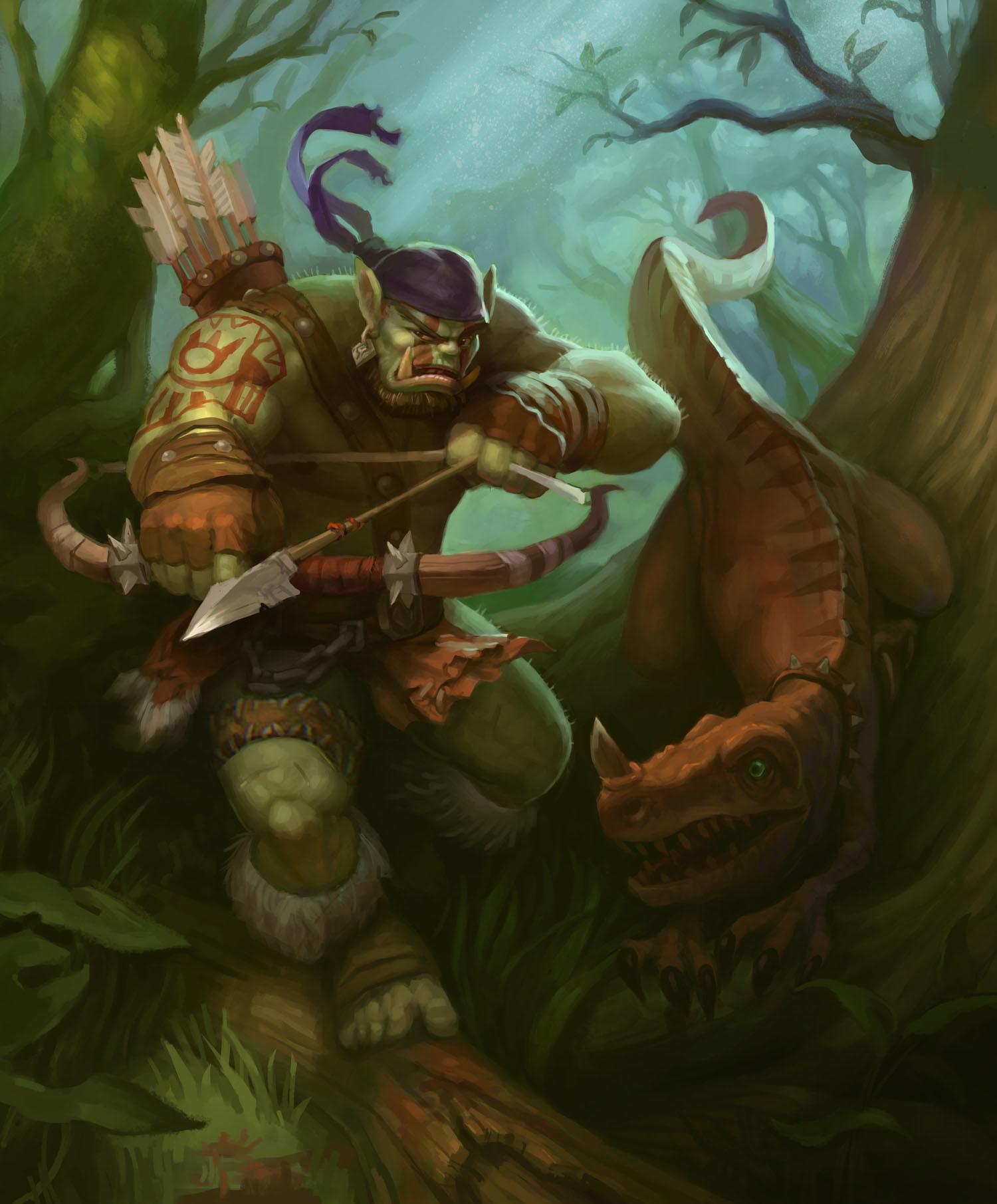 ArtStation - Orc Hunter, Ishmael Hoover