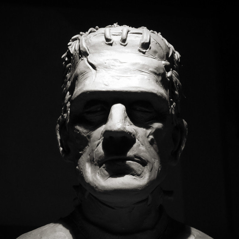 Frankenstein bust - clay sculpt