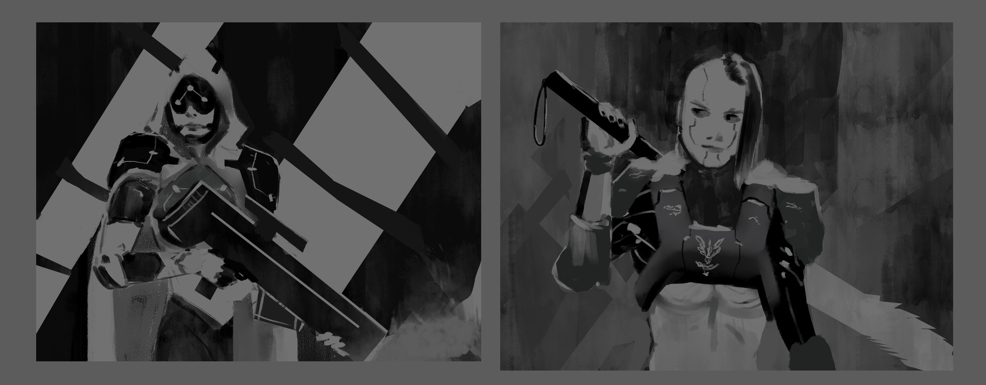 Two more quick thumbnails