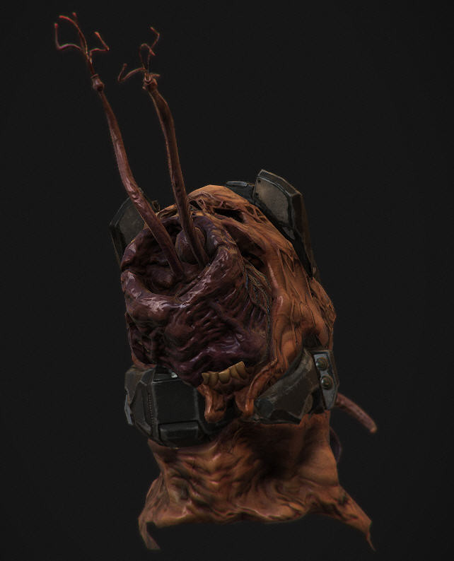 ArtStation - Flood Infected head/helmet for Halo 2