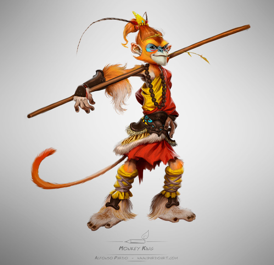 Alfonso pardo martinez monkey king by pardoart d79vep3