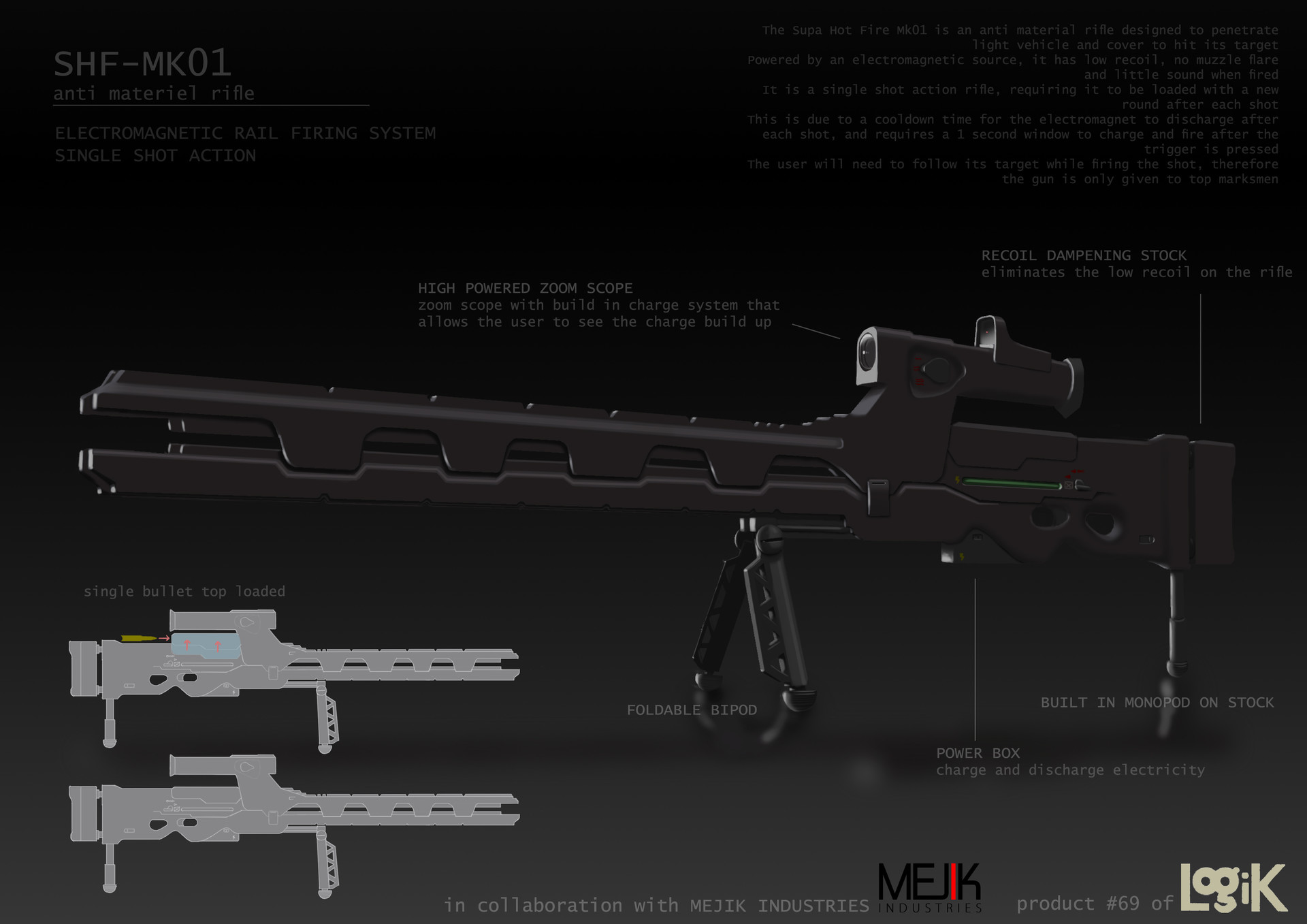 Anti Materiel Rifle artstation - anti materiel rifle, daryl choo